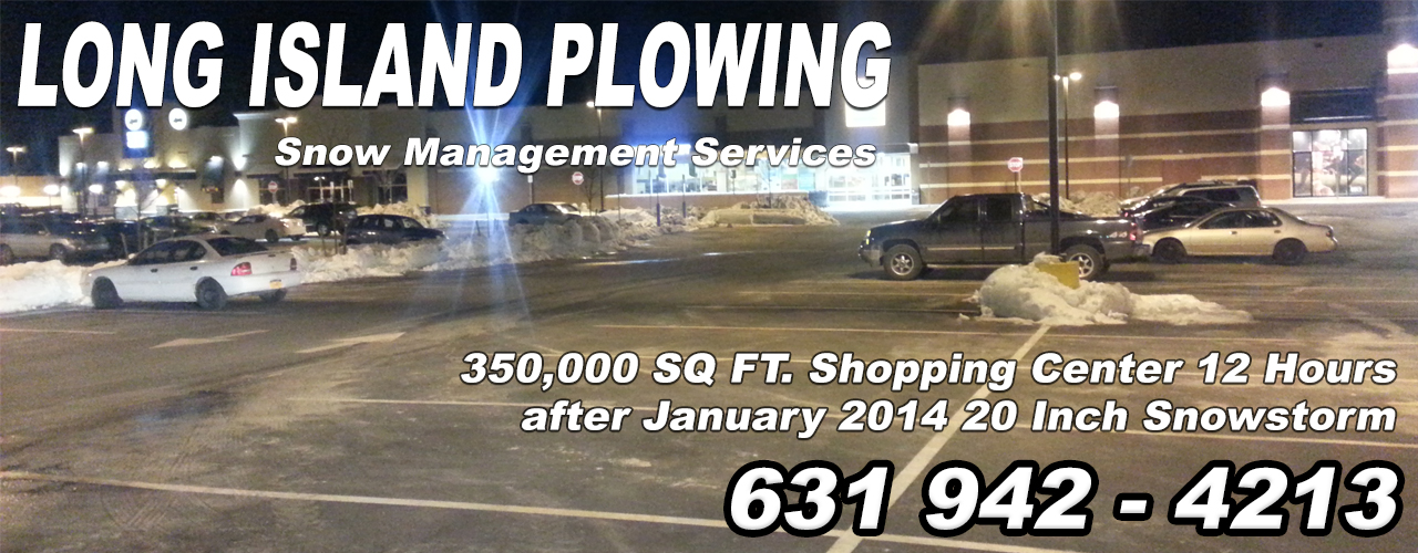 Long Island Snow Removal Shopping Centers